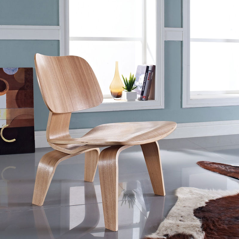 ... Plywood Lounge Chair Natural Room