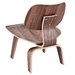 plywood lounge chair walnut back