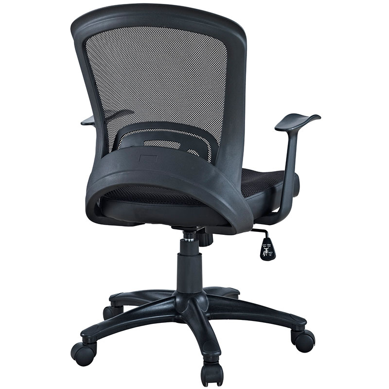 office chair back. marcel ergonomic modern office chair - back view a