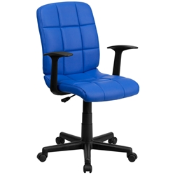 Quilted Office Chair in Blue