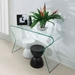 Rand Modern Clear Bent Glass Console Table