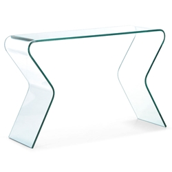 Rand Modern Bent Glass Console Table