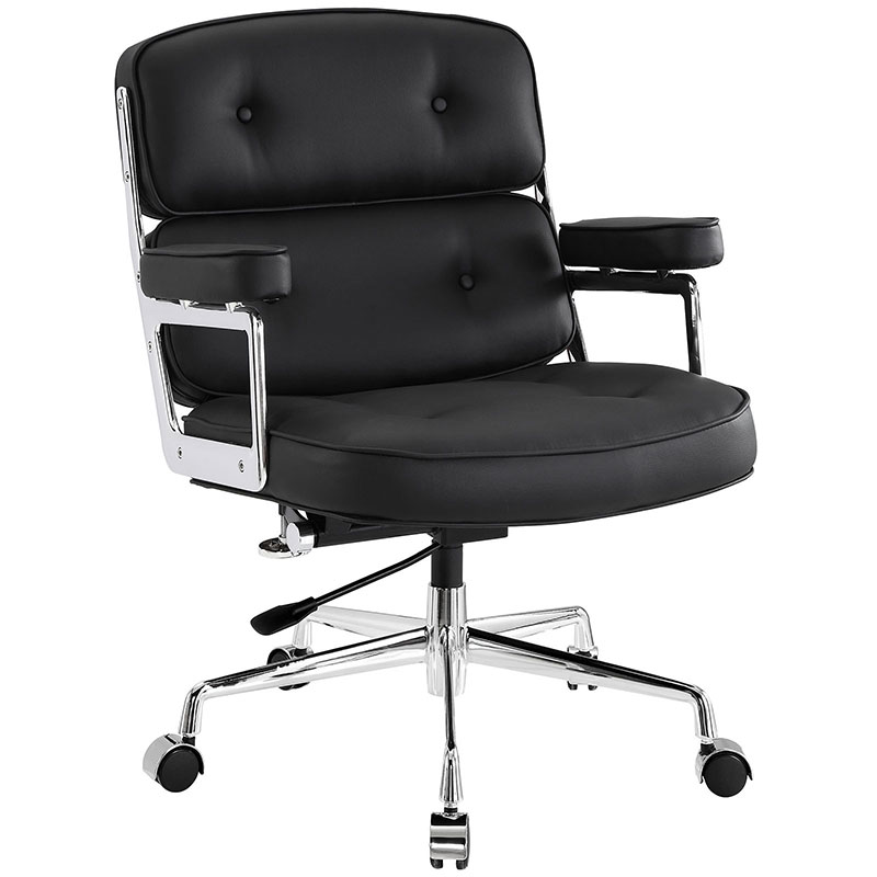 retro office chair in black