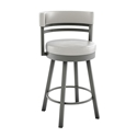 Ronny Counter Stool in Titanium and Eggshell by Amisco