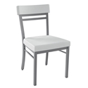 Roland Dining Chair in Platina and White