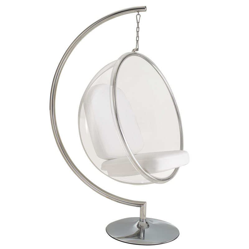Bubble Chair Cheap Scoop Hanging Chair With Stand | Eurway Modern Furniture