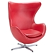 Scoop Modern Leather Lounge Chair