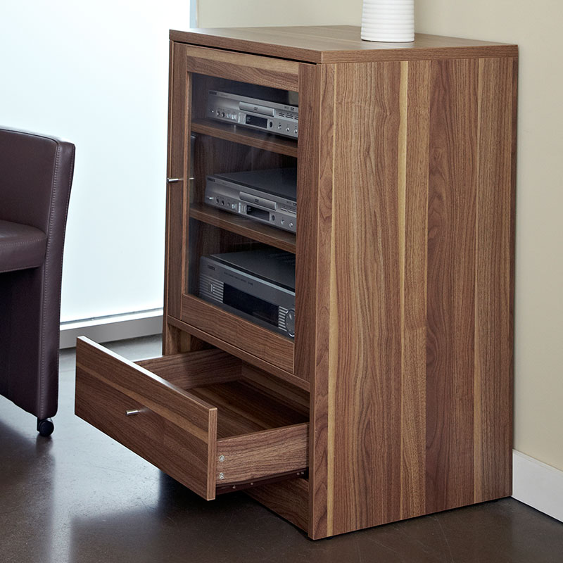 Series 100 Audio Video Cabinet; Series 100 A/V Stand In Walnut ...