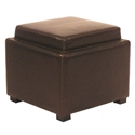 sheffield square storage ottoman in brown