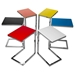 Sierra Tables - Colored Glass + Chrome