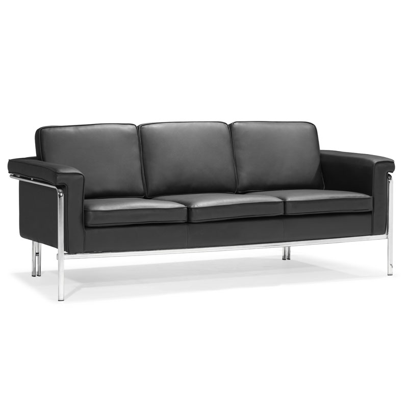 Lovely Singular Classic Modern Sofa In Black