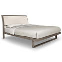 Solitude Platform Bed in Titanium and Eggshell
