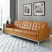 studio leather sofa - tan