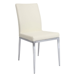 Seattle Modern Dining Chair In Ivory Polyurethane
