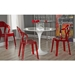 Talbott Transparent Red Dining Chair