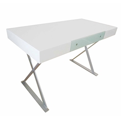 Telford Modern White Desk