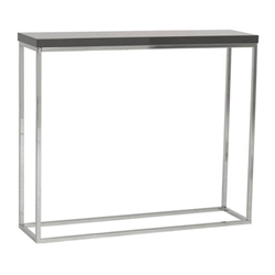 Narrow Console Tables - Teresa Modern Gray Console Table