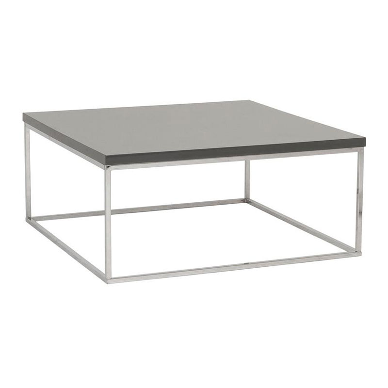 Modern Coffee Tables - Ted Square Gray Coffee Table