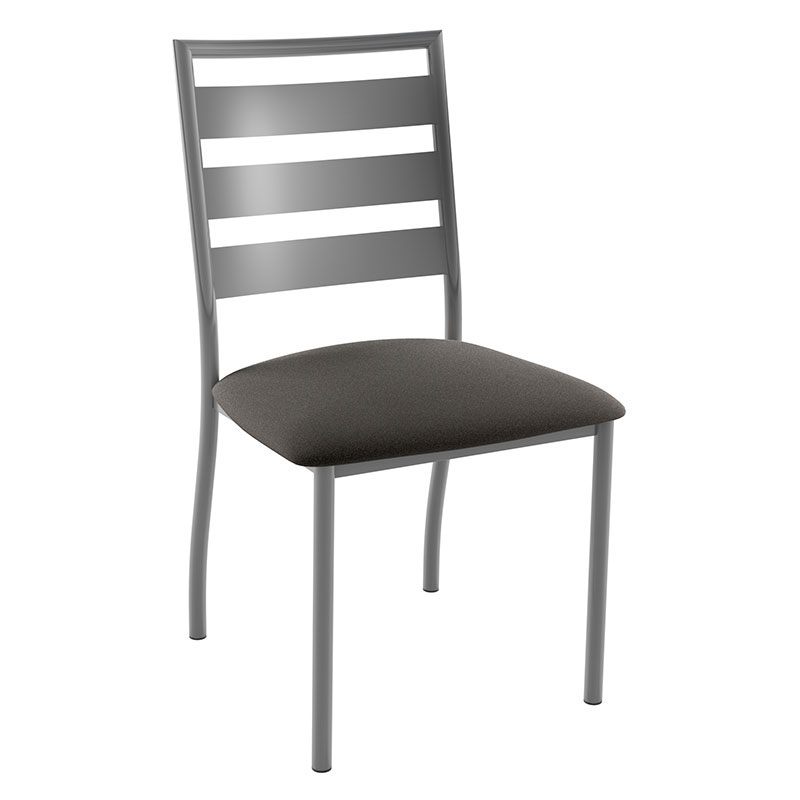 Tori Dining Chair In Magnetite and Fleece by Amisco