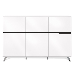 Trondheim 400 Collection Storage Cabinet in White
