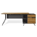 Trondheim Executive Desk + Cabinet in Zebrano
