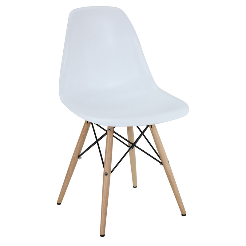Modern dining chairs truss side chair eurway modern for Contemporary white dining chairs