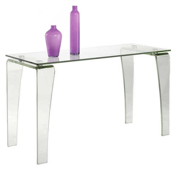 Vela Modern Glass Console Table