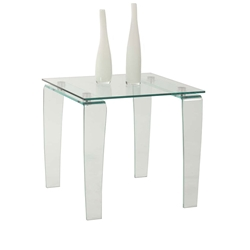Vela Modern Glass Side Table