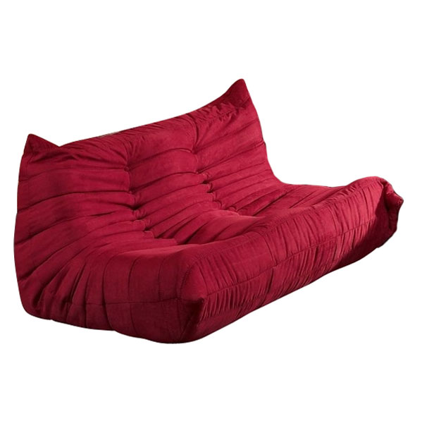wave loveseat in red