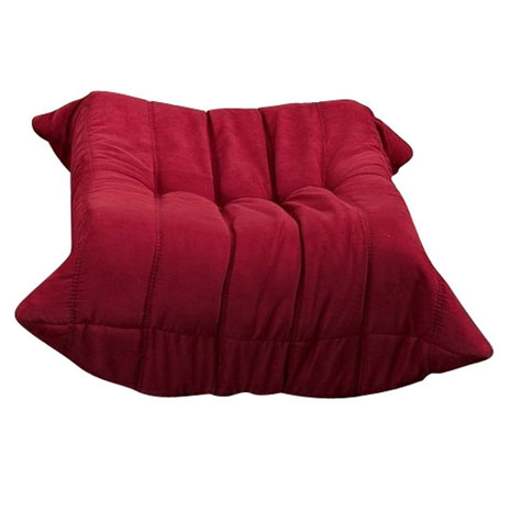 wave ottoman in red