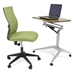 Workpad Adjustable Desk with Kaja Office Chair