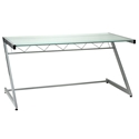 Z Deluxe Large Desk Aluminum / Frosted