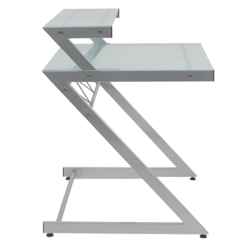 Ziegler Small Desk With Shelf Side View
