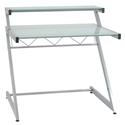 Z Deluxe Modern Small Desk with Shelf