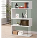 Zig Zag White Shelving Unit